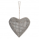 wholesale Decoration: Wooden heart Harumi for hanging L65cm, ...
